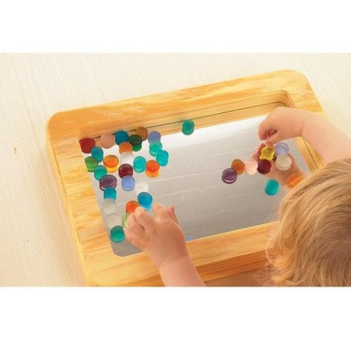 Soft Mirror Tray, early development, for disabled children.