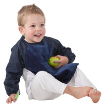 Load image into Gallery viewer, Boy wearing Mum 2 Mum Full Upper Body Wonder Bib in Navy, Protective Bib, For Disabled Children.