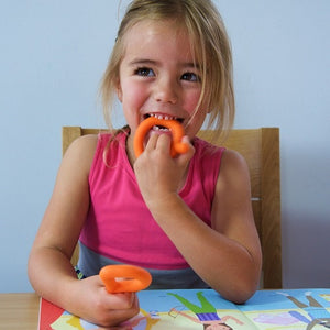 Chewing aid, Chewable P&Q, oral care, for children with disabilities.