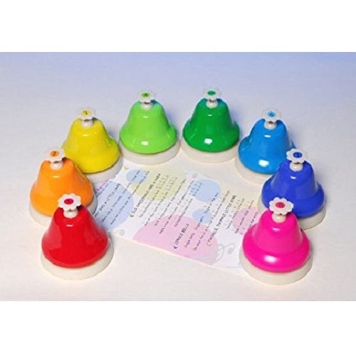 Rainbow Push Bells, motor and cognitive skills, for disabled children.