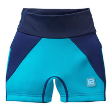 Load image into Gallery viewer, Splash Jammers Incontinence Shorts for Children - Navy/Jade, swimwear, for disabled children.