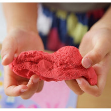 Red Tactile Kinetic Sand, motor and cognitive skills, for disabled children.