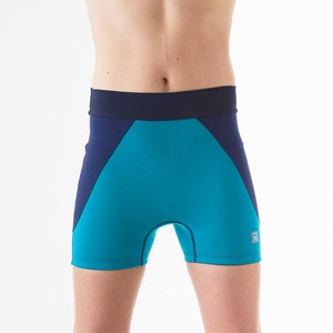 Splash Jammers Incontinence Shorts for Adults- Navy/Jade, Swimwear, for disabled children.