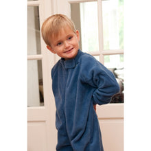 Load image into Gallery viewer, All-In-One Pyjama, Zip-Front (Blue Fleece)