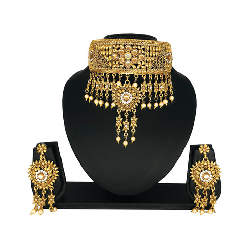 Alloy Gold Choker Set - HVIJS0040