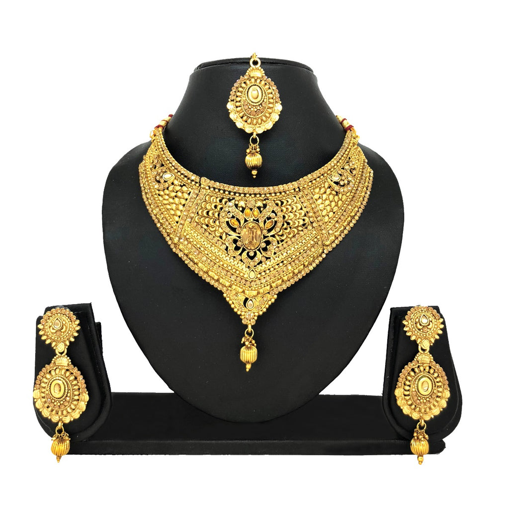 Alloy Gold Jewelry Set - HVIJS0001