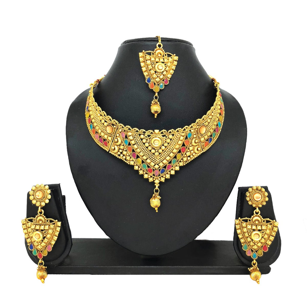 Multi-colored Jewelry Set - HVIJS0004