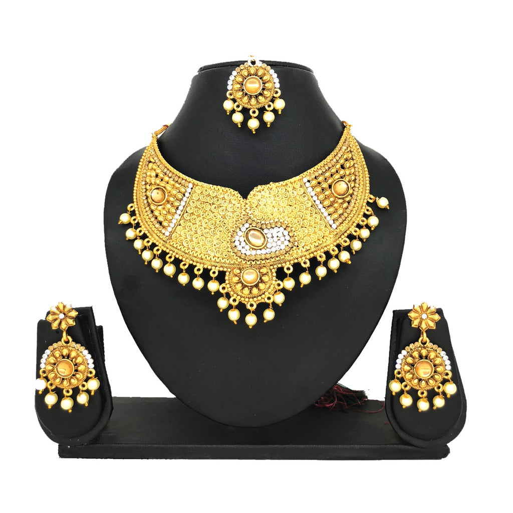 Alloy Gold Jewelry Set - HVIJS0005
