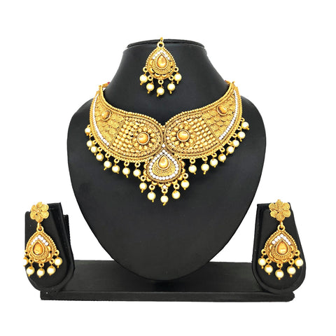 Alloy Gold Jewelry Set - HVIJS0006