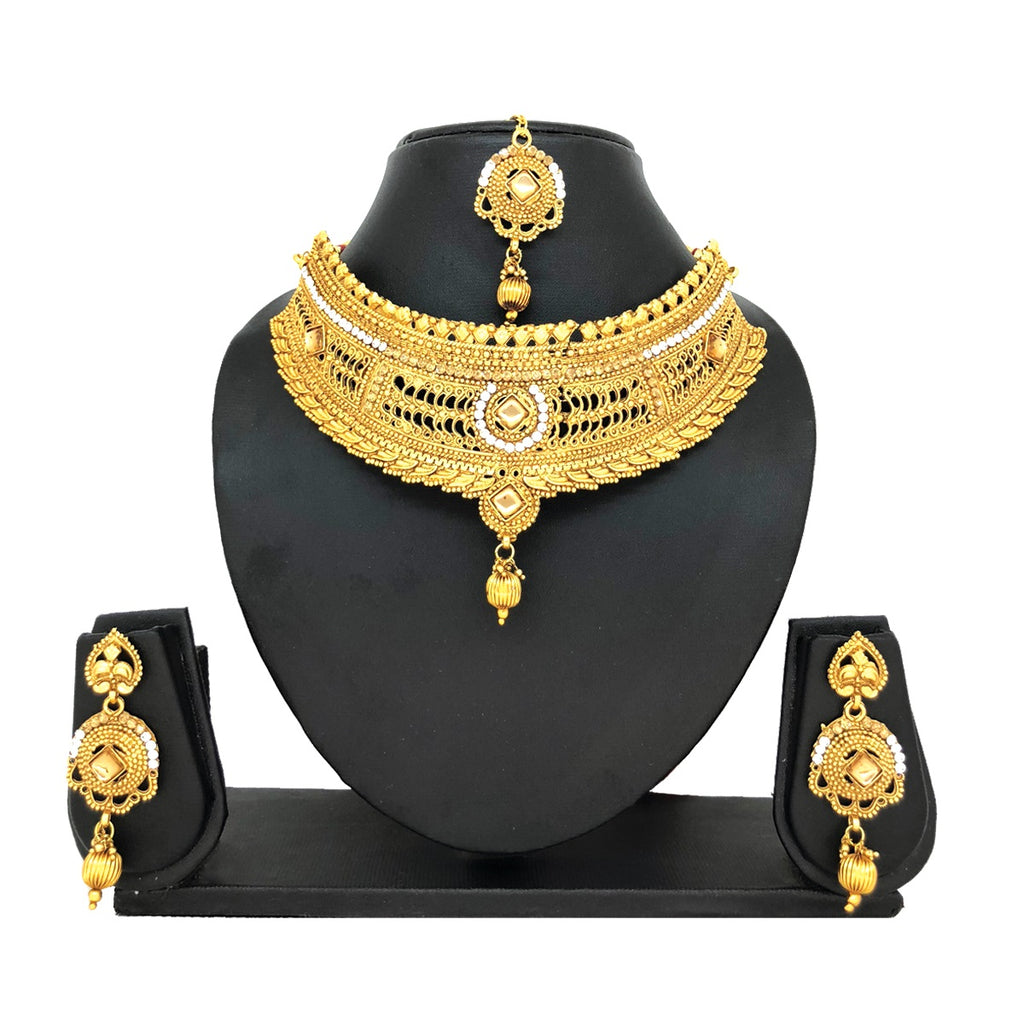 Alloy Gold Jewelry Set - HVIJS0007