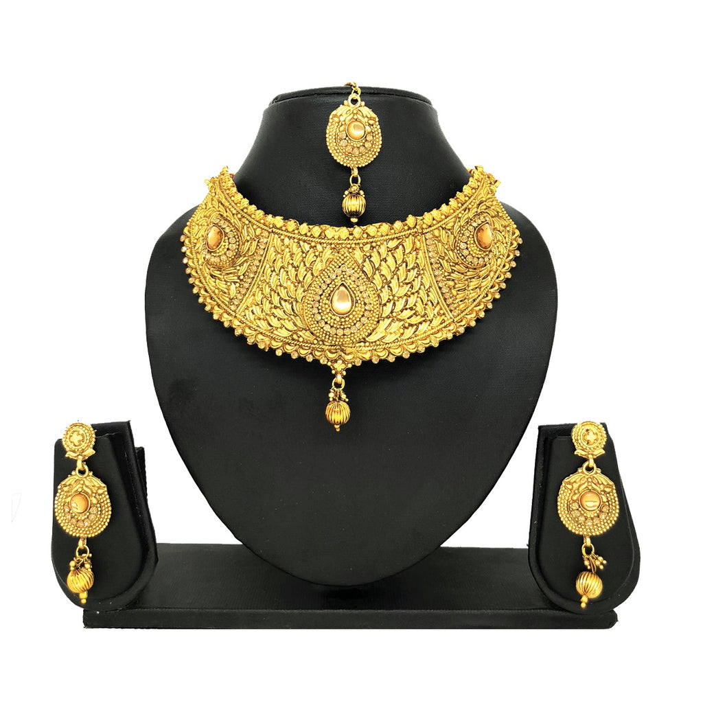 Alloy Gold Jewelry Set - HVIJS0008