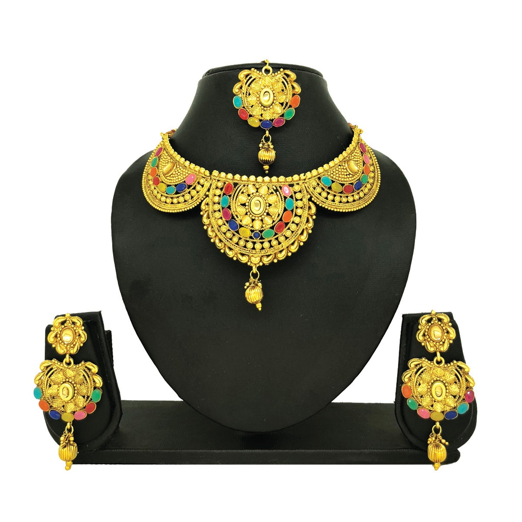 Multi-colored Jewelry Set - HVIJS0009