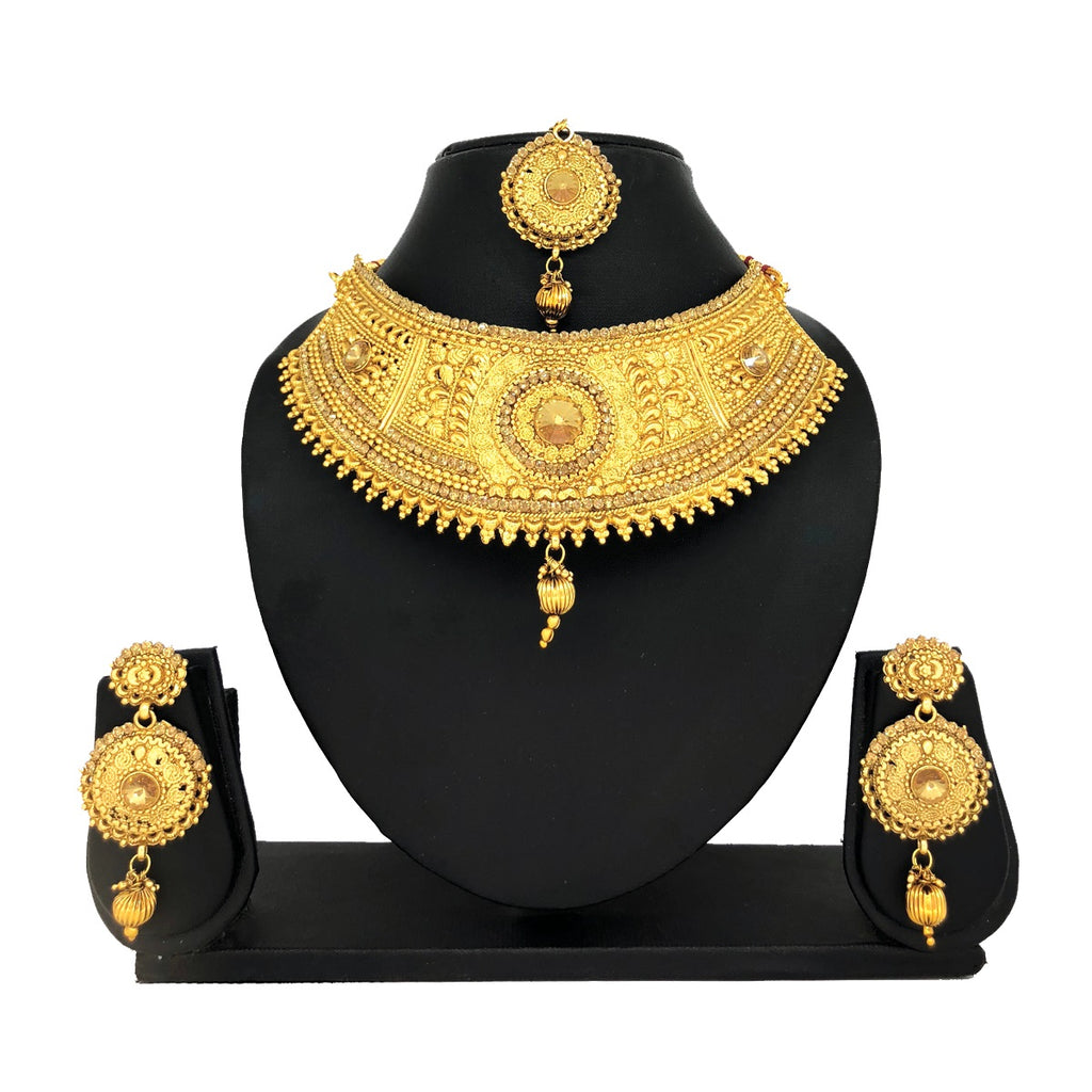 Alloy Gold Jewelry Set - HVIJS0010