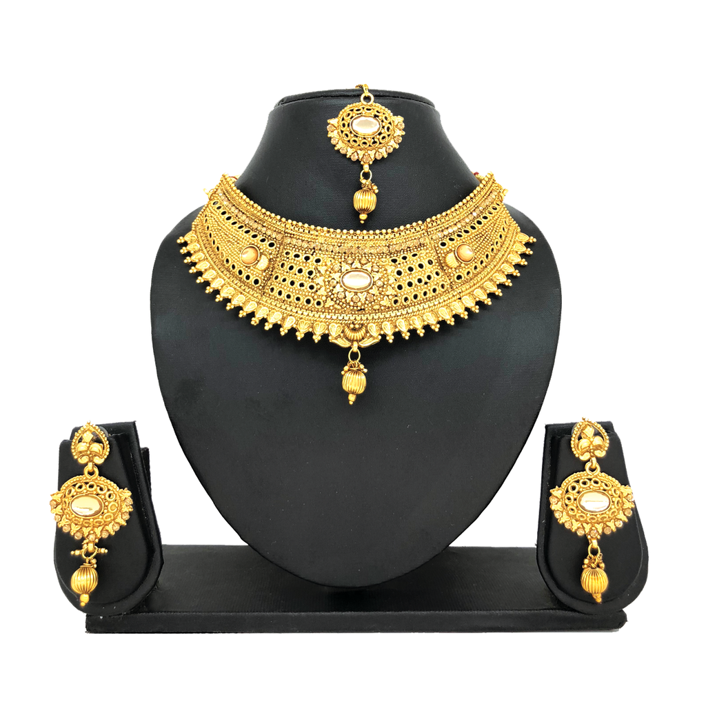 Alloy Gold Jewelry Set - HVIJS0014