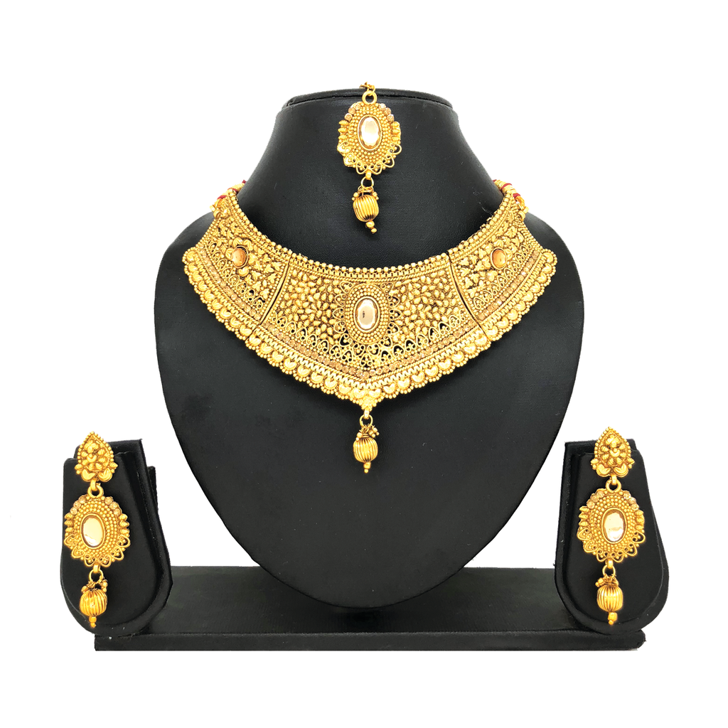 Alloy Gold Jewelry Set - HVIJS0015