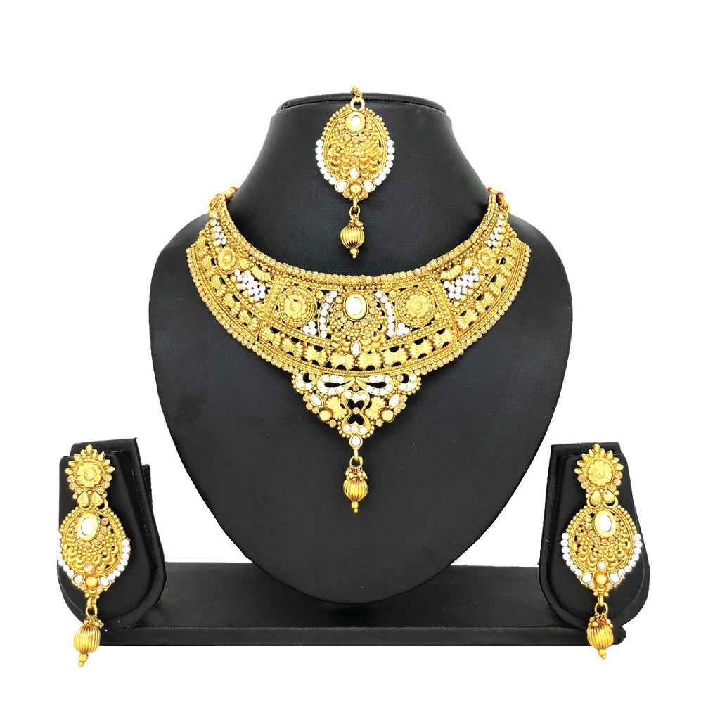 Alloy Gold Jewelry Set - HVIJS0019