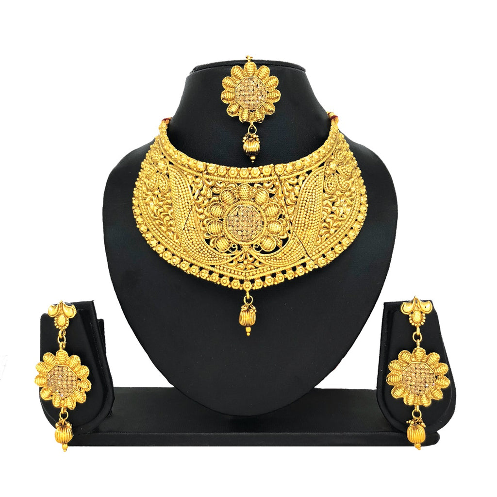 Alloy Gold Jewelry Set - HVIJS0021