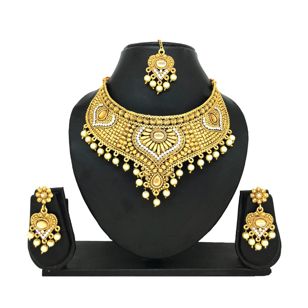 Alloy Gold Jewelry Set - HVIJS0024