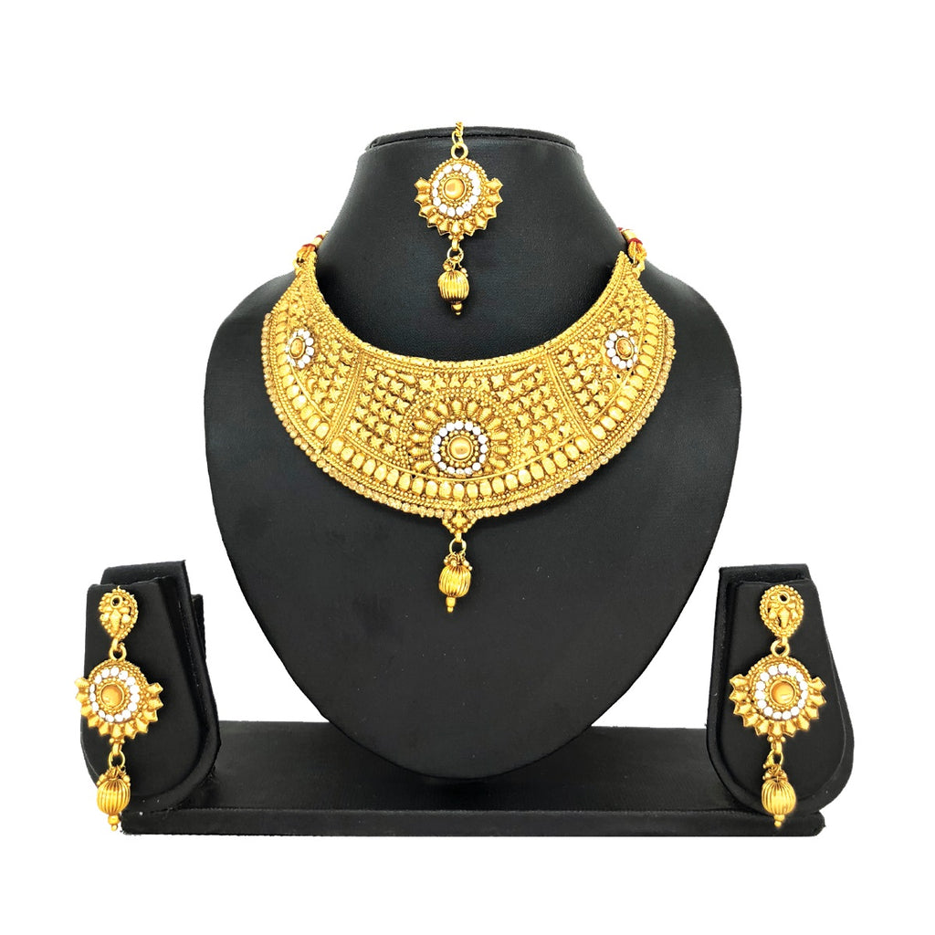 Alloy Gold Jewelry Set - HVIJS0025