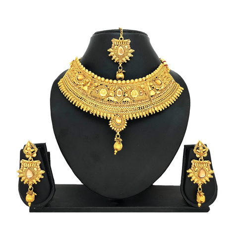Alloy Gold Jewelry Set - HVIJS0027