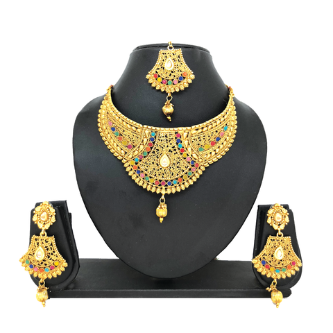 Alloy Gold Jewelry Set - HVIJS0029