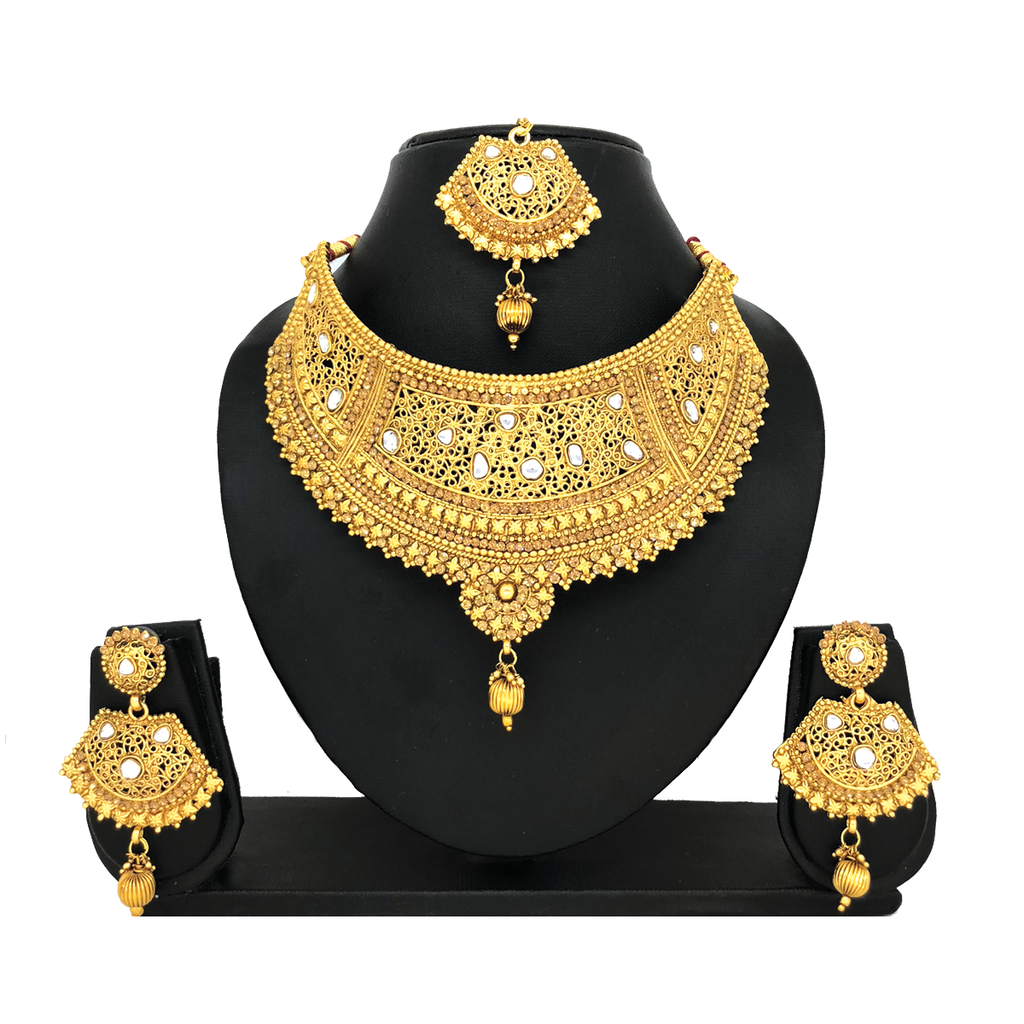 Kundan Gold Jewelry Set - HVIJS0031
