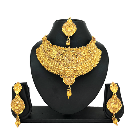 Alloy Gold Jewelry Set - HVIJS0033