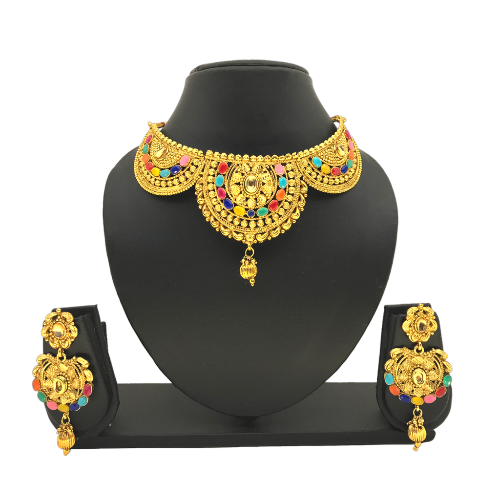 Multi-colored Jewelry Set - HVIJS0037