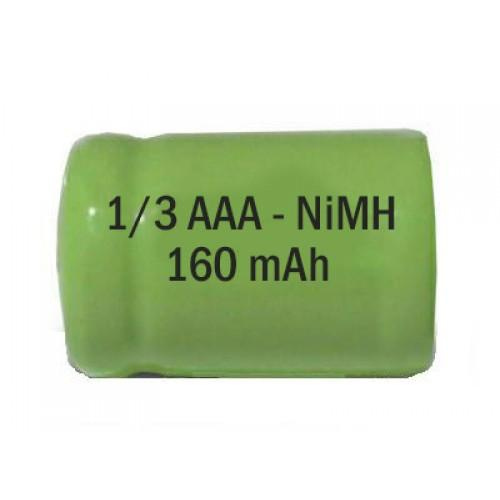 1/3AAA NiMH 1.2V 160 mAh Rechargeable Cell