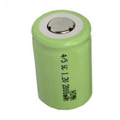 4/5 Sub C 2000 mAh NiMH 1.2V Flat Top Cell - bbmbattery