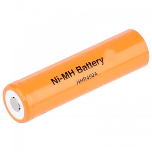 HHR450A FAT-4/3A 4500 mAh NiMh Cell Flat Top Rechargeable Cell