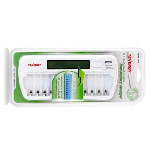 TN160 Fast Battery Charger for 12 AA/AAA Ni-MH / NiCd Cells from Tenergy with a LCD Display | bbmbattery.com
