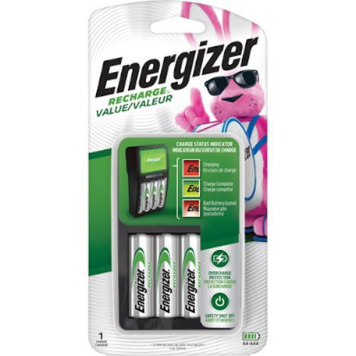 Energizer CHVCMWB-4 Charger with 4 NiMh AA