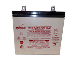 EnerSys Genesis NP55-12FRF Battery with Flame Retardant Case