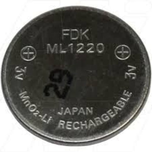 FDK ML1220 Battery - Rechargeable Coin Cell