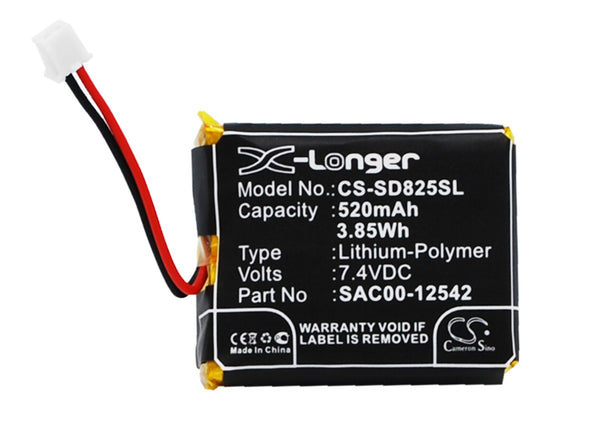 BBM Battery supplies the CS-SD825SL Battery for the Sportdog Houndhunter, Wetlandhunter dog collar transmitters. This is a direct cross on the Sportdog battery SAC00-12542.