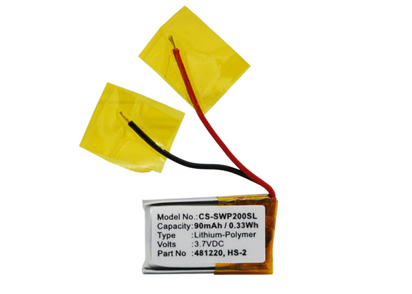 3.7V / 90mAh Li-Poly SAMSUNG WEP-200, WEP-210, WEP-301 Battery Replacement - CS-SWP200SL