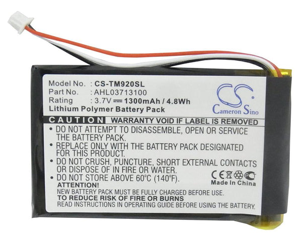 TomTom AHL03713100 Replacement Battery for 340S LIVE XL, Go 920, Go 920T, Go XL330, One XL 340 - GPS