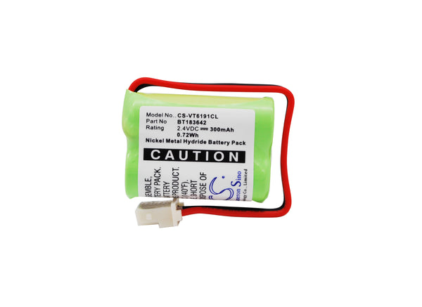 CS-VT6191CL 2.4V/300mAH Battery for V TECH LS6005, LS6191, LS6195