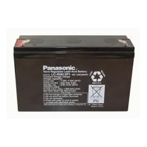 Genuine Panasonic  LC-R0612P1 Sealed Lead Acid Battery with P1 terminals | bbmbattery.com