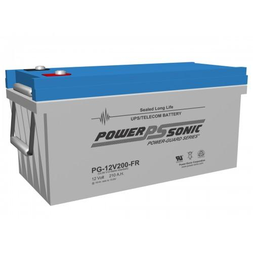 PG-12V200FR  - Powesonic Sealed Lead Acid Battery, 12V/200AH - inset terminal | bbmbattery.com