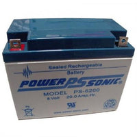 PS-6200- Powersonic Sealed Lead Acid Battery - 6V/20AH NB terminal | bbmbattery.com