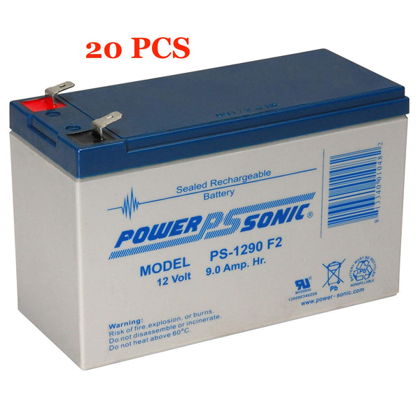 20 x 12V / 9.0Ah UPS Replacement Batteries for ABLEREX MSII10000P