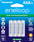 Panasonic AAA eneloop HR-4UTG, GES-HR4UTG-4BP 1.2 v NiMH Pre-Charged Rechargeable Batteries | bbmbattery.com