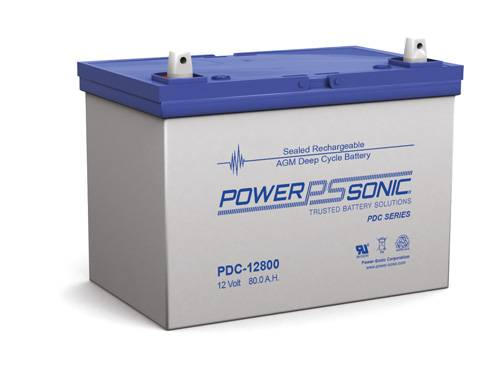 Power-Sonic PDC-12800 Deep Cycle AGM Battery