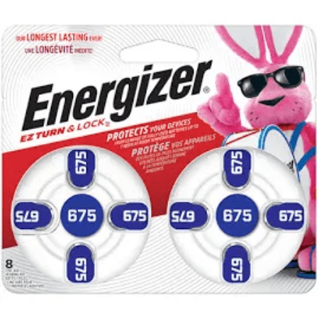 Energizer AZ675DP- 8 Hearing Aid Battery - 8 per card