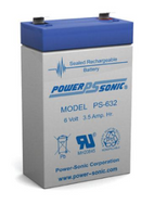 Powersonic PS-632  Sealed Lead Acid Battery