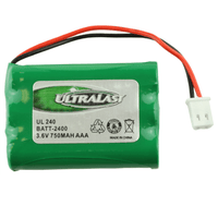 BATT-2400 / UL240 Cordless Phone Battery Replacement For 3 AAA w/Reverse polarity Molex