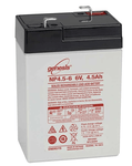 Enersys Genesis NP4.5-6 - 6V/4.5AH Sealed Lead Acid Battery - NP4-6