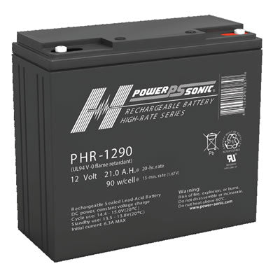PHR1290 , PHR-1290 POWER-SONIC SEALED LEAD ACID BATTERY